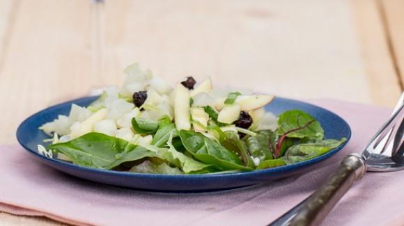 Koolrabi salade met oerbiet en appel