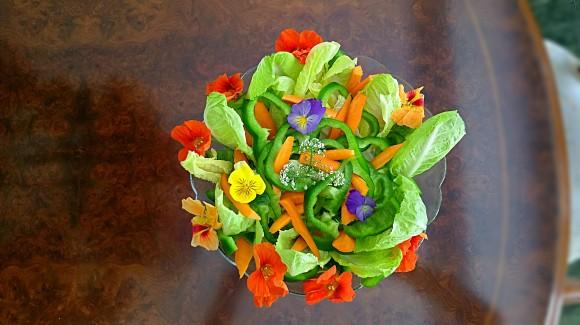 Ensalada flores para mamá