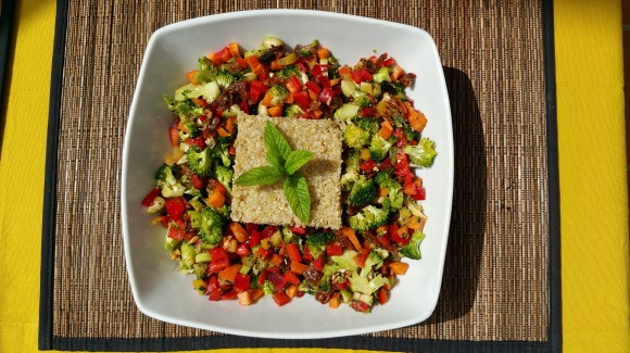 Tabulé de quinoa y brócoli