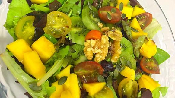 Ensalada de mango y kiwi