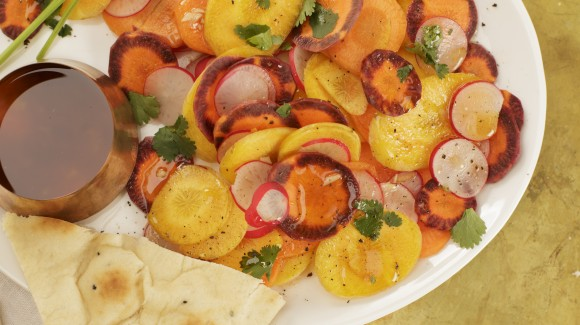 Indian carrot salad with radish, cumin & cinnamon