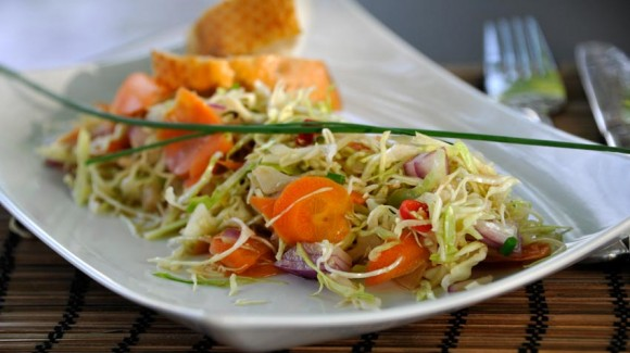 Sweet & sour spring cabbage salad