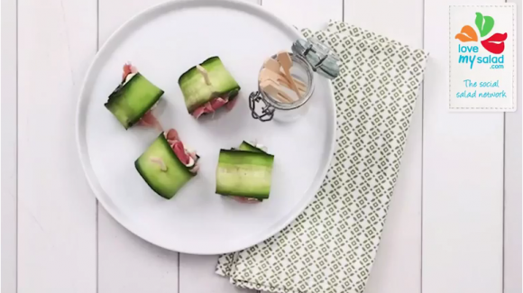 Crunchy cucumber appetizers