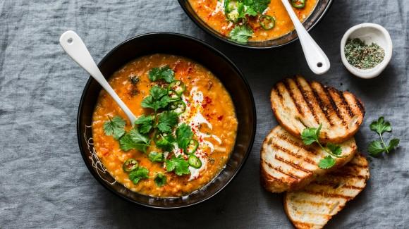 Libanonská čočková polévka