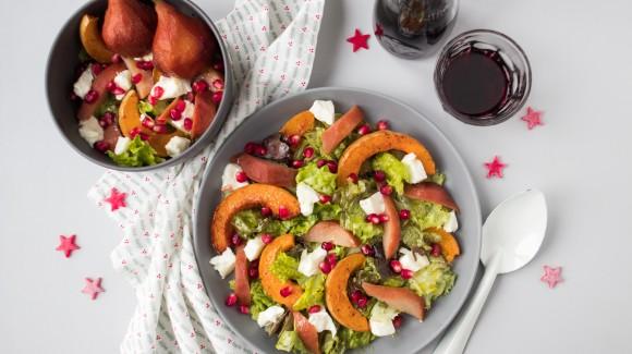 Food Talk - Pompoen + recept kerstsalade met stoofpeer & burrata