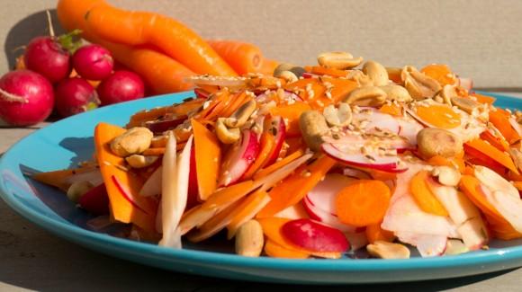 Indische wortel rauwkost salade