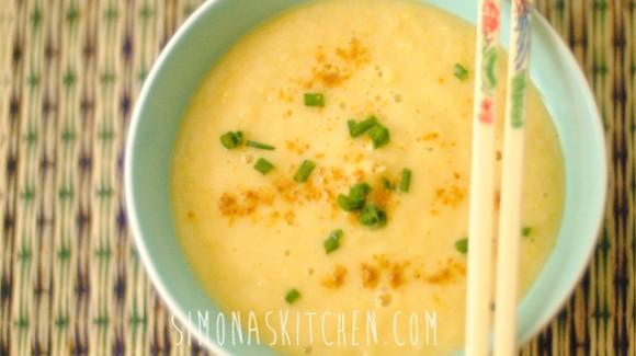 Zuppa di Mais Piccante con Zenzero & Curry