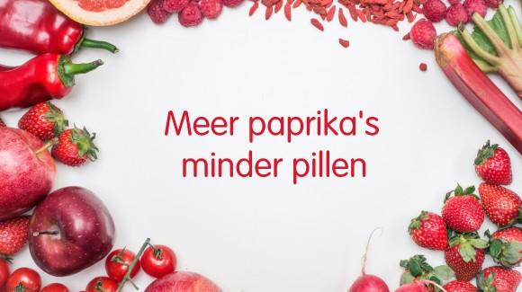 Meer paprika's, minder pillen