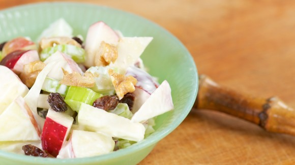 Mexican family salad with apple and celery