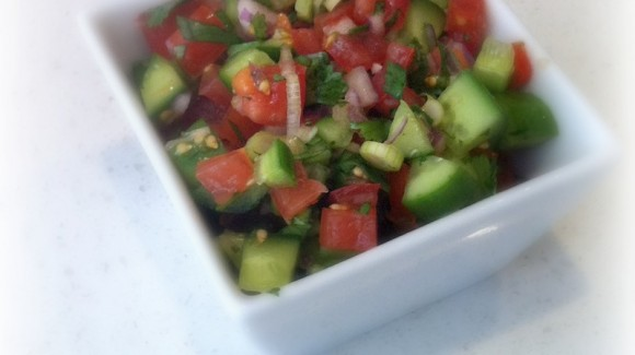 South-east Asian tomato and cucumber salad