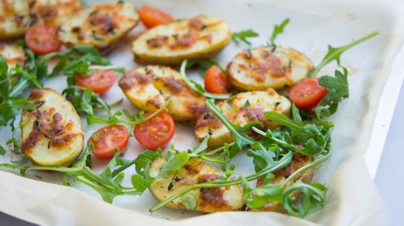 Patatas para picoteo saludable