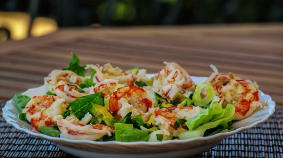 Wonderful prawn salad