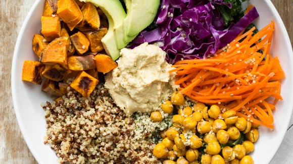 Rainbow salad platters