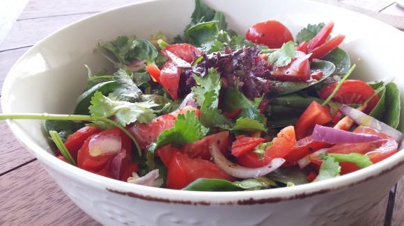 Garden salad with Vietnamese flavours
