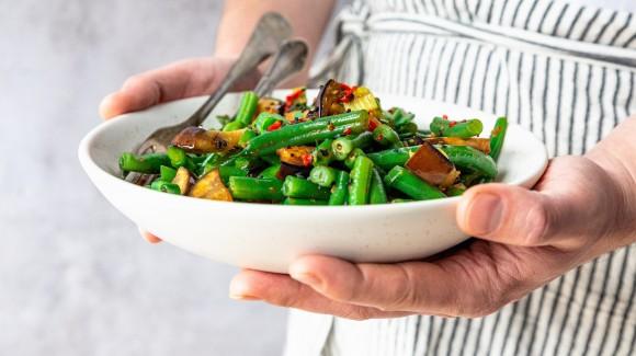 Spicy veggie stir-fry