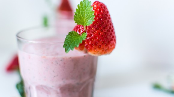 Strawberry and melon milkshake