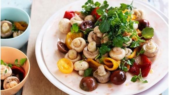 Sommerlicher Pilzsalat