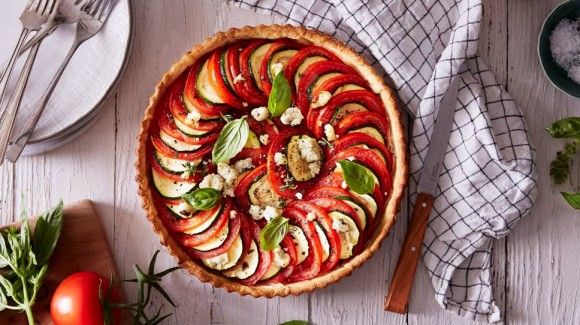 Truss tomato and zucchini tart