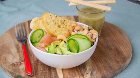 Vissalade met zalm en tonijn