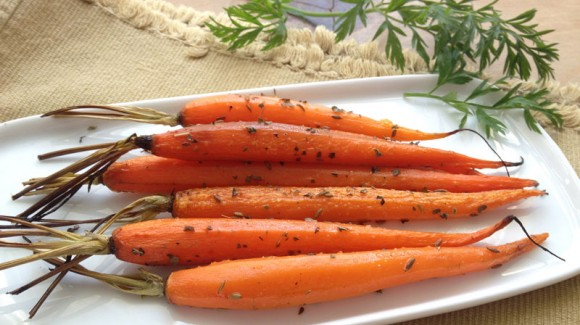 Gegrilde wortelsalade