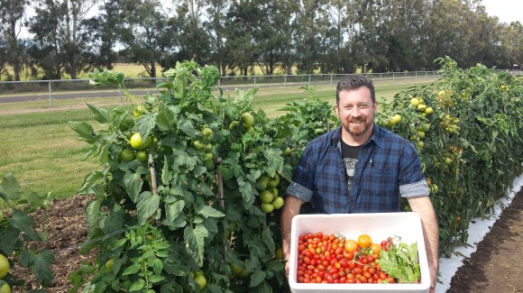 Chef Glen Barratt leads an interactive salad workshop in Gatton, Australia